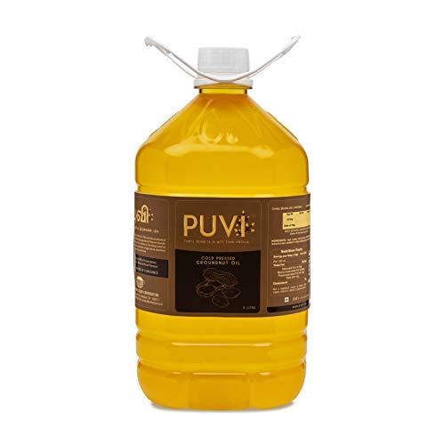 Puvi Cold Pressed Groundnut/Peanut Oil in 5 Ltr India