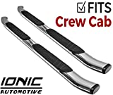 Ionic Railway Chrome (fits) 2019 Dodge Ram Crew Cab 6 Lug ONLY Truck Side Step Running Boards