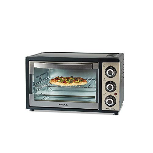 Borosil PRO 19 L OTG, with Motorised Rotisserie, 1300W, 5 Stage Heat Selection, Greyand Black 155