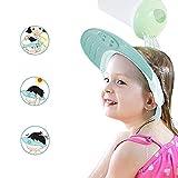 Yarachel Kids Baby Shower Cap - Adjustable Leak Proof Silicone Bath Wash Hair Shield Hat Soft Comfortable Baby Shampoo Cap - Baby Mate (Sapphire Blue)