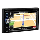 BOSS Audio BN965BLC Car GPS Navigation & DVD Player - Double Din, Bluetooth Audio and Calling, 6.5 Inch LCD Touchscreen Monitor, MP3/CD/DVD/USB/SD, Aux-in, AM/FM Radio Receiver