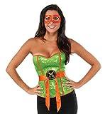 Rubie's Women's TMNT Classic Costume Sequined Michelangelo Corset, Green, Large