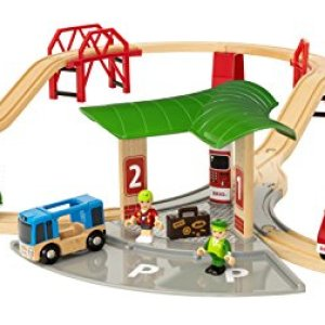 BRIO World – 33627 Travel Station Set | 25 Piece Train Toy with Accessories and Wooden Tracks for Kids Ages 3 and Up 41K3y87i5FL