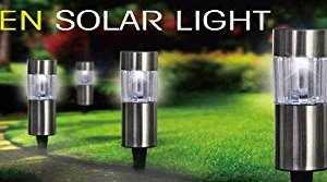 Solar Power 6 Pack Garden Lights Weather Proof Party White Patio Deck