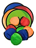 SVT 12 x Foldable Flying Disc/Fan with Bag Assortment - 9.5' Folding Frisbees in Four Exciting Colors