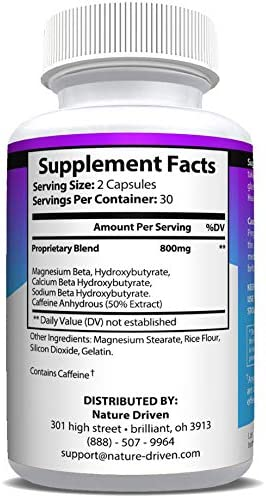 Keto Diet Pills That Work - Weight Loss Supplements to Burn Fat Fast - Boost Energy and Metabolism - Best Ketosis Supplement for Women and Men - Nature Driven - 60 Capsules 4