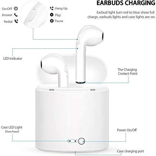 41KAM1sQ SL MARVIK Growth Growth Bluetooth 5.zero True Wi-fi Earbuds, 5 H Cyclic Playtime Waterproof TWS Headphones with Charging Case and mic, in-Ear Stereo Earphones Headset