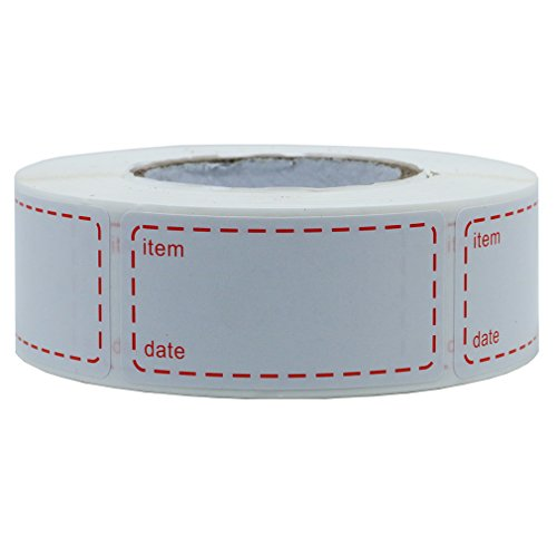 Hybsk 1 x 2 Inch Food Storage Labels Freezer & Refrigerator Freezer Labels Adhesive Label 500 Per Roll