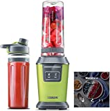 Willsence Blender Personal Smoothie Blender(Recipe Book Included), 700 Watts Intelligent Nutri-iQ System, 6 Stainless Steel Blades for Shake and Smoothie Maker, Ice Crusher, 2 x 20 oz Travel Cups