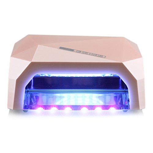 Gellen Pro 36W Nail Dryer UV LED Light / Lamp for Gel Nail Polish Quick Dry No Harm Manicure Machine, Color Deep Peach