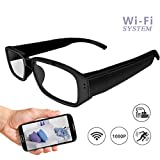 Wi-Fi Hidden Camera Glasses 1080P Full HD Spy Camera Motion Detection Activated Real-time Video Remotely APP Viewing