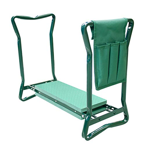 Futurebatt Garden Kneeler and Seat with Thicken & Widen Soft Kneeling Pad, Foldable Stool with Bonus Tool Pouch