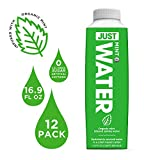 JUST Water Infused | Spring Water Flavored with Organic Essences | Eco-Friendly Boxed Bottled Water | Zero Sugar, Artificial Flavors, or Sweeteners, Alkaline pH of 8.0 | Mint, 16.9 oz (Pack of 12)