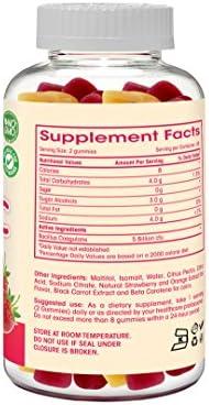 Probiotic Gummies Sugar Free - 5 Billion CFU, Non GMO, Vegetarian (NO Gelatin or Gluten) and Kosher. Probiotics for Women, Kids, and Men. Digestive and Immune Health | 90 Count 5