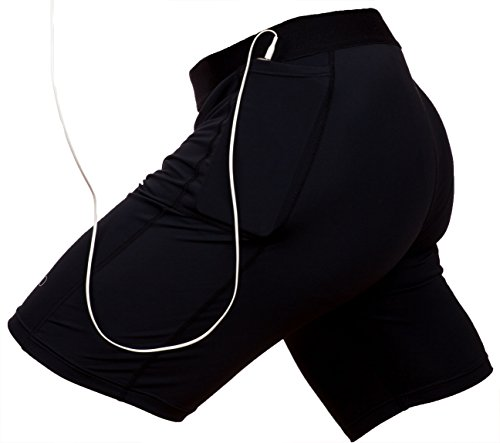 THE II BRO Compression Shorts with Pocket/Pockets for Running