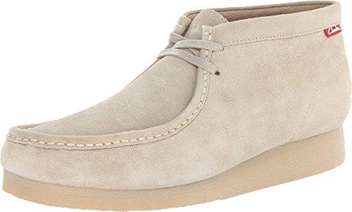 Clarks Men's Stinson Hi Chukka Boot,Sand Suede,9 M US
