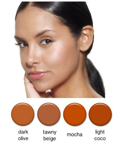 Art of Air 4pc TAN Complexion Professional Airbrush Cosmetic Makeup Set 1/2 oz bottles