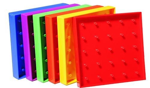 Learning Advantage 7728 Plastic Geo Boards, 5 x 5 Pin Array, 5