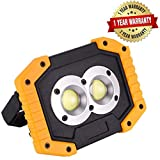 [UPDATED] JINHODY LED Work Light| Rechargeable 15W Flashlight| Portable Waterproof Outdoor Spot Lights for Camping Hiking Car Repairing Workshop Job Site SOS Emergency