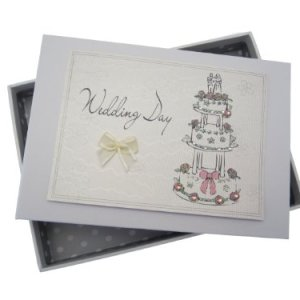 White Cotton Cards Wedding Day Tiny Album Cake Design 41KcQTJJnNL