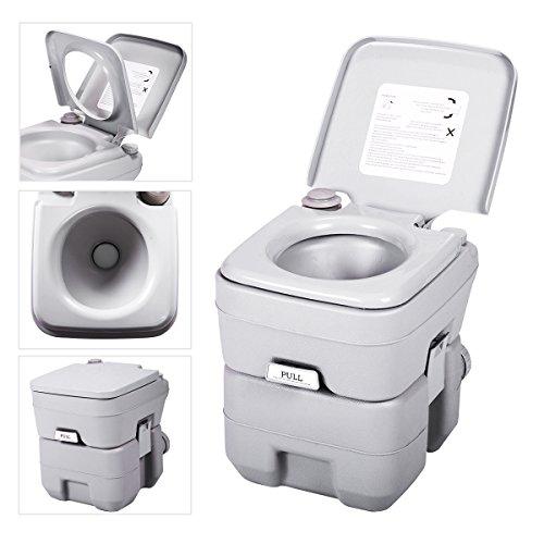 JAXPETY 5 Gallon 20L Flush Porta Potti Outdoor Indoor