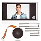 3.5'LCD HD Screen Peephole Viewer Digital Door Eye Viewer Camera 720P Image Resolution 120 Degree Wide Angle Home Security System