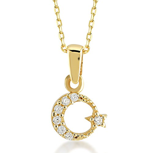 Gelin 14k Real Gold Pendant Necklace