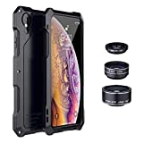 iPhone Xr Case Lens Heavy Duty Shockproof/Good Grip/Drop Protection/Scratch Resistance for iPhone Xr 6.1',Black