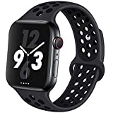 OriBear Compatible for Apple Watch Band 44mm 42mm, Breathable Sporty for iWatch Bands Series 4/3/2/1, Watch Nike+, Various Styles and Colors for Woman and Man(S/M,Grey-Black)