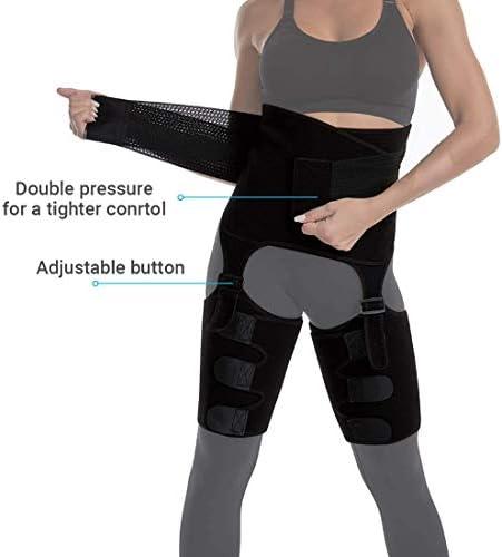 DAWNDEW Waist Trainer for Women, 3-in-1 Waist and Thigh Trimmer Butt Lifter-Weight Loss Slimming Body Shaper Belt, Adjustable Hip Enhancer, Hips Belt Trimmer Body Shaper Workout Fitness Training 4