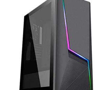 SYNTRONIC Budget Gaming Desktop Tower PC Ryzen 3 3200g / 8GB RAM / 1TB HDD/Vega 8 Graphics / / A320 Chipset/WiFi Ready/USB 3.1