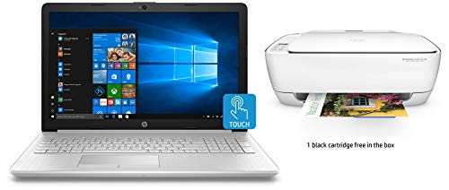 HP 15 Core i3 Touchscreen Laptop (4GB/1TB HDD/Win 10/MS Office), 15-ds0043tu + HP 3636 AIO Wireless Printer 49