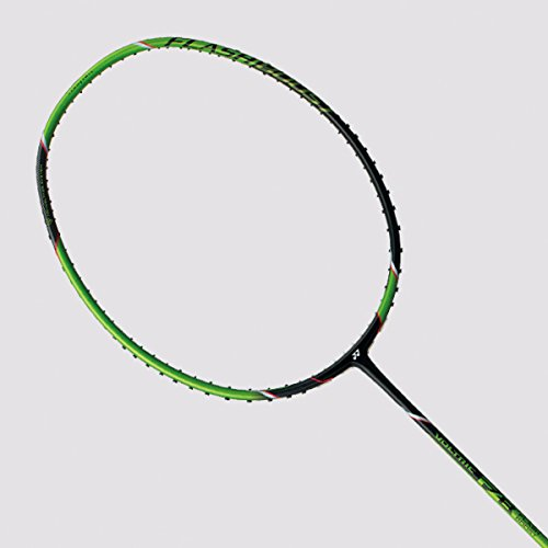 Yonex Voltric FB Badminton Racket (BLACK/GREEN, Custom String Job)