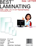 Best Laminating - 3 Mil Clear Letter Size Thermal Laminating Pouches - 9 X 11.5 (100 Pouches)