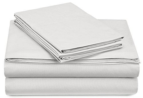 Pinzon 300-Thread-Count Percale Sheet Set -  Queen, White