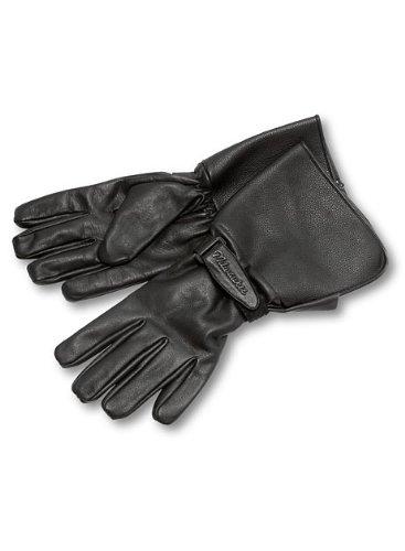 Milwaukee Motorcycle Clothing Company Men's Leather Gauntlet Riding Gloves (Black, XXX-Large)