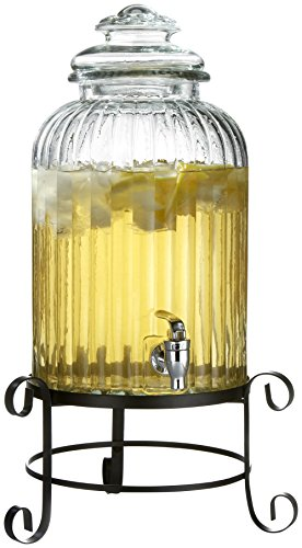 Style-Setter-Springfield-210919-RB-3-Gallon-Glass-Beverage-Drink-Dispenser-with-Metal-Stand-Glass-Lid-Springfield-Clear