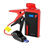 BESTEK Car Jump Starter 400A Peak 12000mAh 12V Portable Auto Battery Booster Pack Power Bank with Dual USB Ports LED Light LCD Screen