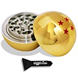 Official Dragon Ball Z Herb Grinder - 4 Star Golden Dragonball Herb & Spice Tool With BONUS Scraper Tool - Dragon Ball Z Gifts - 3 Part Grinder, 2.2 Inches by Nestpark