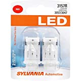 SYLVANIA - 3157 LED Red Mini Bulb - Bright LED Bulb, Ideal for Stop and Tail Lights (Contains 2 Bulbs)