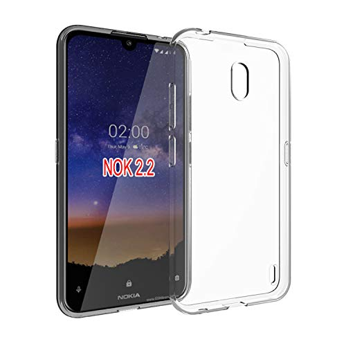 Prime Retail Plain Flexible Transparent Back Cover for Nokia 2.2 6