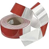 ABN Reflective Conspicuity Tape - 2' Inch X 150' Feet - DOT Reflective Red/White C2 Trailer