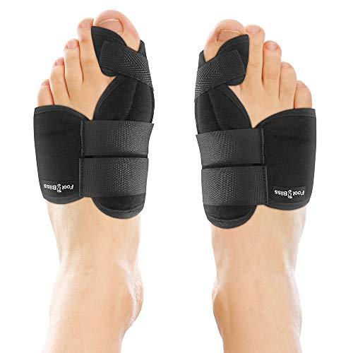 Nighttime Bunion Corrector + Bunion Relief Brace. 2 Best Bunion Toe Splint & Straightener Support Braces. Big and Hammer Toes Cushion for Bunions, Hallux Valgus, Arthritis, Feet Pain. Men and Women