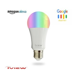 IVIEW-ISB600 Smart WiFi LED Light Bulb, Multi-color, Dimmible, No Hub Required, Free APP Remote Control, Compatible with Alexa