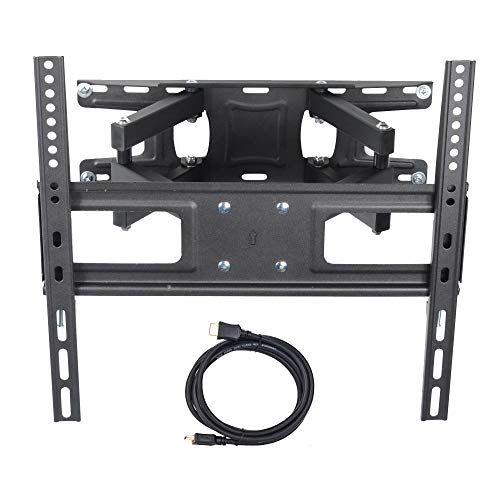 VideoSecu MW340B2 TV Wall Mount Bracket for most 32-65 Inch LED, LCD, OLED and Plasma Flat Screen TV, with Full Motion Tilt Swivel Articulating Dual Arms 14' Extend, up to VESA 400x400mm,100 LBS WR9