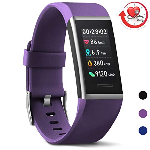 MorePro X-Core Fitness Tracker HR, Waterproof Color Screen Activity Tracker with Heart Rate Blood Pressure Monitor, Smart Wristband Sleep Pedometer Watch with Step Calories Counter for Women and Men