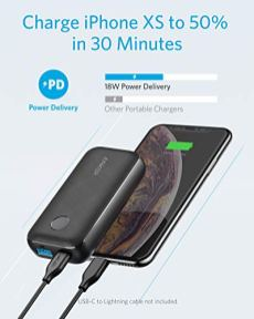 Anker-PowerCore-10000-PD-Redux-10000mAh-Portable-Charger-USB-C-Power-Delivery-18W-Power-Bank-for-iPhone-1112-MiniProPro-Max-8-XXS-Samsung-S10-Pixel-33XL-iPad-Pro-2018-and-More