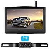 RV Digital Wireless Backup Camera System with 5 inch LCD Monitor Truck Rear View Camera Without Color Difference Night Vision Waterproof Easy Installation