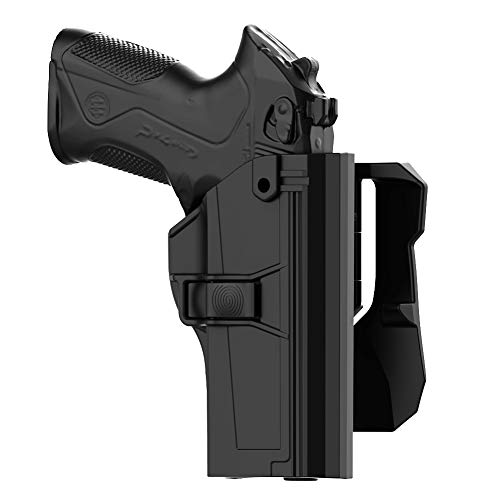 TEGE Beretta PX4 Storm Holster, Beretta PX-4 Storm Full Size Paddle Holster, Tactical Outside Waistband Holster with 360° Adjustable Cant Fits Beretta PX 4 Storm 9mm .40 S&W, OWB Carry, Right-Handed