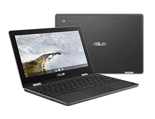 """ASUS Chromebook Flip C214MA-YS02T 11.6"""" Ruggedized and Water Resistant Chromebook, 360 Touchscreen Convertible, Intel N4000, 4GB DDR4 RAM, 32GB Storage, Mil Std Design, Chrome OS"""